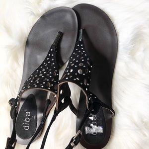 Diba Leather Sandals Sz:8M summer walking comfy